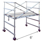 Snap-Up® Adjustable Base Section - Length 6'