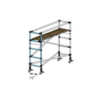Adjustable Base End Frame - Narrow Span (Each) - Click Image to Close