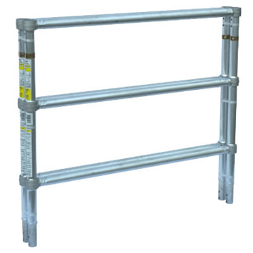 3-1/2' Guard Rail End Frame - Wide Span (Each)