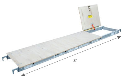 8' Scaffold Board with Access Door